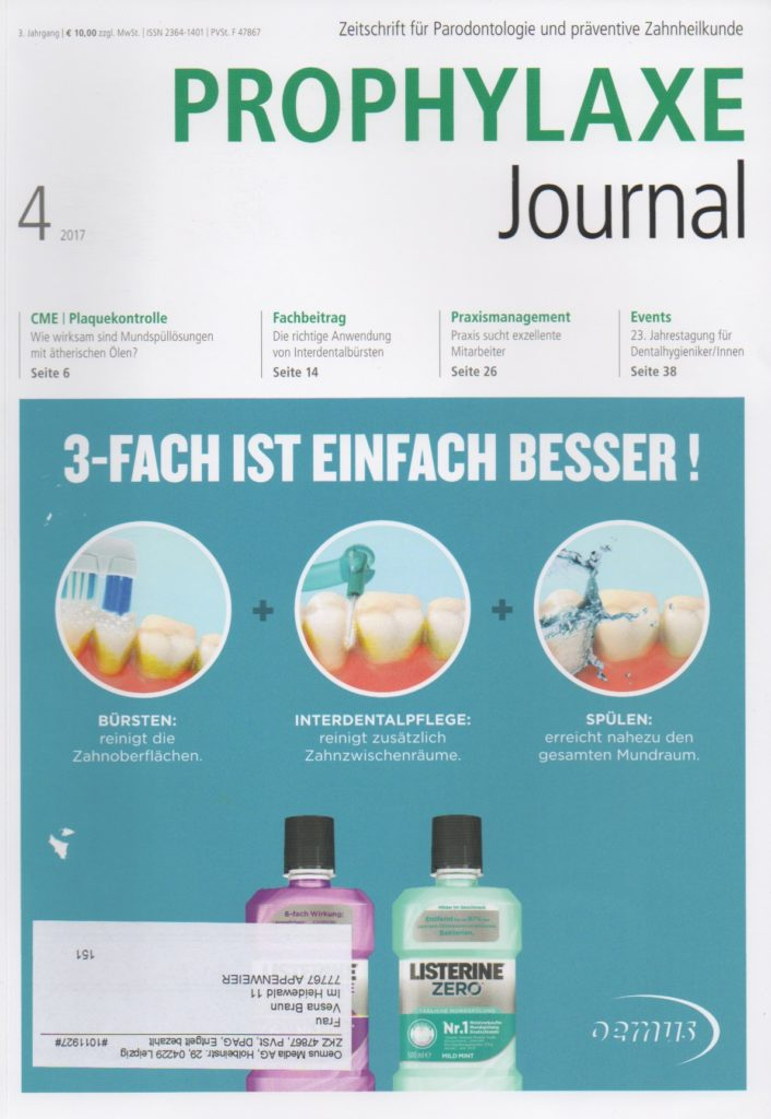 Prophylaxe Journal Ausgabe 4 - 2017