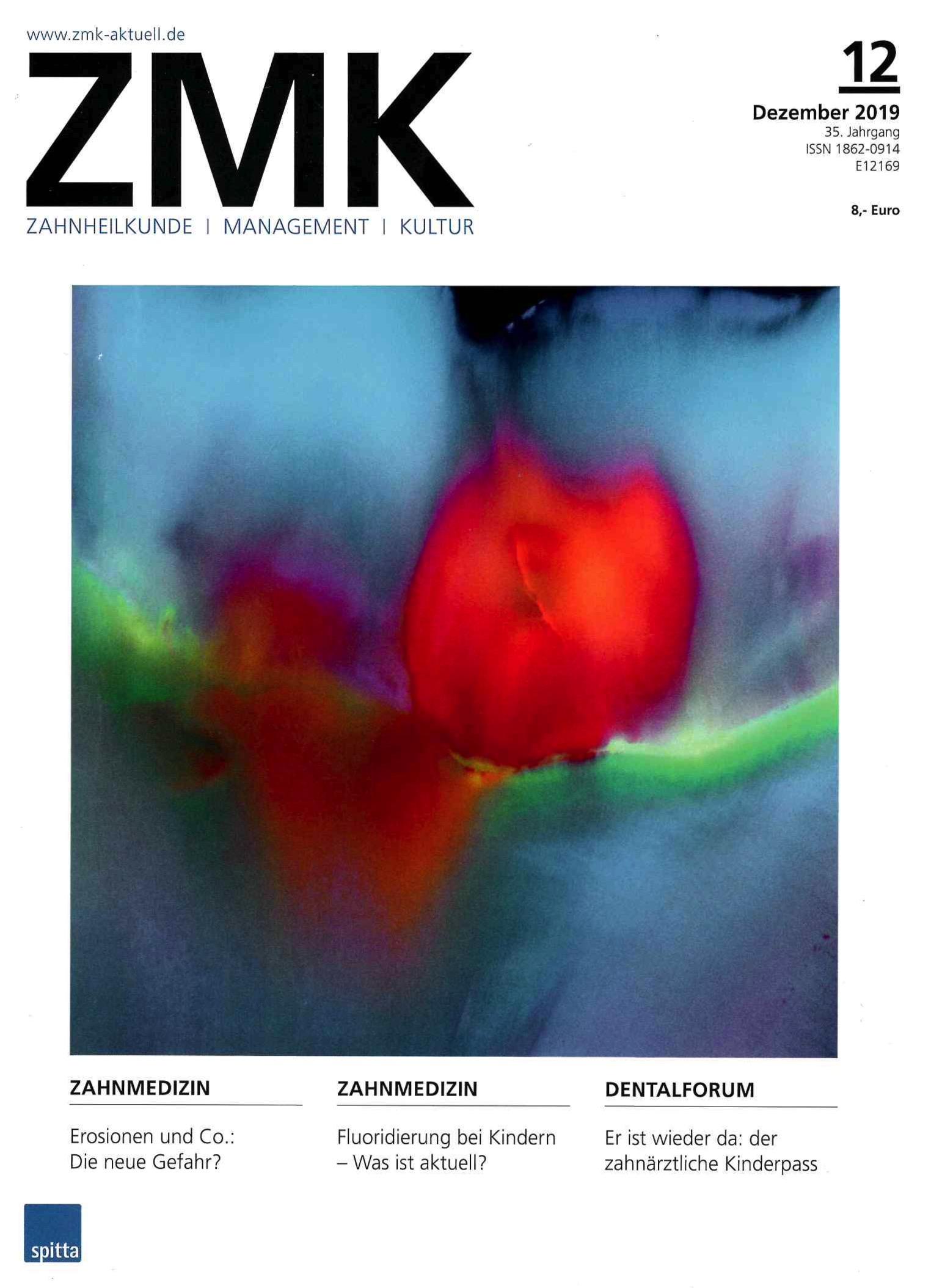 ZMK - Zahnheilkunde - Management - Kultur - Ausgabe 12/2019